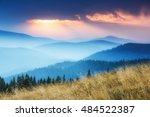 view of colorful sunrise in...   Shutterstock . vector #484522387