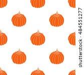 decorative pumpkin pattern.... | Shutterstock .eps vector #484551277