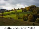 meadows with autumn colors on a ... | Shutterstock . vector #484575343