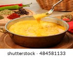 turkish traditional fried cheese | Shutterstock . vector #484581133