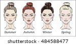 seasonal color types for women... | Shutterstock .eps vector #484588477