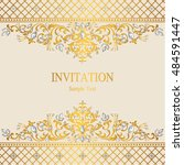wedding invitation or card with ... | Shutterstock .eps vector #484591447
