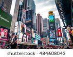 new york city   august 16  2016 ... | Shutterstock . vector #484608043