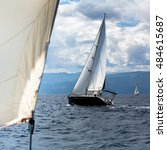 Small photo of Sailing yachts the participants in regatta in the Aegean sea.
