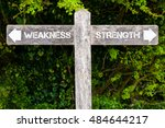 wooden signpost with two... | Shutterstock . vector #484644217