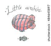 hand drawn vintage little...   Shutterstock . vector #484645897