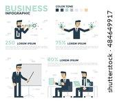 business infographics.... | Shutterstock .eps vector #484649917