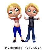 3d rendered illustration of kid ... | Shutterstock . vector #484653817