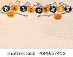 halloween flags   black and... | Shutterstock . vector #484657453