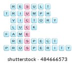 crossword for the word success... | Shutterstock .eps vector #484666573