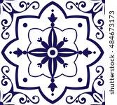 arabic tiles pattern vector... | Shutterstock .eps vector #484673173