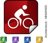 cycling swimmer web button... | Shutterstock .eps vector #48469405
