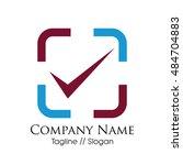 check mark logotype vector | Shutterstock . vector #484704883