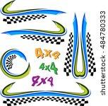 vehicle graphics  stripe  ... | Shutterstock .eps vector #484780333
