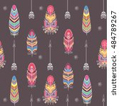 seamless vector pattern with... | Shutterstock .eps vector #484789267