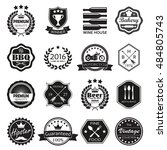 labels and  badges set. vintage ... | Shutterstock . vector #484805743