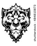 wolf logo vector design head | Shutterstock .eps vector #484810873