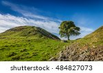 Small photo of Sycamore Gap on Hadrian's Wall, County of Northumbeland, England