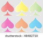 button heart | Shutterstock .eps vector #48482710