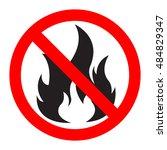 no fire vector sign | Shutterstock .eps vector #484829347