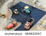 workers constructing road with... | Shutterstock . vector #484832047