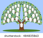 family tree. the file has four... | Shutterstock .eps vector #484835863