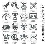 business management icons on...   Shutterstock .eps vector #484854457
