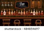 bar. interior. vector... | Shutterstock .eps vector #484854697