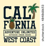 california college graphic with ... | Shutterstock .eps vector #484868653