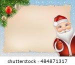 Christmas Card With Santa Clau...