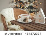 christmas or new year... | Shutterstock . vector #484872337
