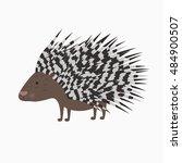 Vector Bristling Porcupine On...