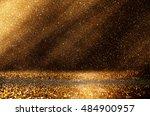 glitter vintage lights... | Shutterstock . vector #484900957