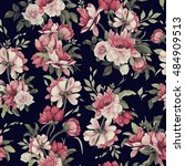 seamless floral pattern with... | Shutterstock .eps vector #484909513