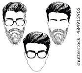 isolated vector  men's...   Shutterstock .eps vector #484912903