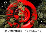 science fiction. 3d... | Shutterstock . vector #484931743