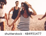 enjoying youth and freedom.... | Shutterstock . vector #484951477