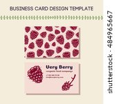 business card concept for food... | Shutterstock .eps vector #484965667