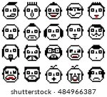 set of emotions set of emoji... | Shutterstock . vector #484966387