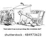 business or political cartoon...   Shutterstock . vector #484973623