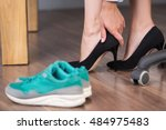 close up photo of businesswoman ...   Shutterstock . vector #484975483