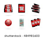 cyber monday sale template.... | Shutterstock .eps vector #484981603