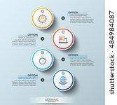 modern infographics process... | Shutterstock .eps vector #484984087