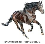 isolated polygon brown... | Shutterstock .eps vector #484984873