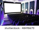 people in a cinema   Shutterstock . vector #48498670
