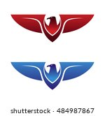 eagle red blue 03 | Shutterstock .eps vector #484987867