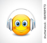 Cute Smiling Emoticon With...