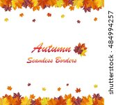 bright autumn background with... | Shutterstock .eps vector #484994257