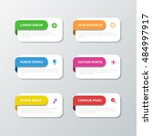 multicolor 6 bookmark process... | Shutterstock .eps vector #484997917