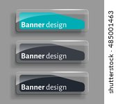 banner design. set of three... | Shutterstock .eps vector #485001463
